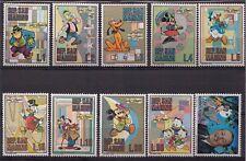 1970 Omaggio a Walt Disney 10 Valori Nuova MNH Topolino Paperino Pippo