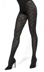 Gajatex Women Elegant Winter Opaque 60 Denier Patterned Tights Sophia