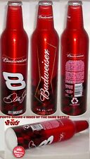 NASCAR BUD #8 Dale Earnhardt JR's ALUMINUM BEER BOTTLE-CAN BUDWEISER RACING 2006