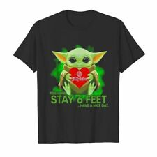 Baby Yoda hug Jiffy Lube please remember stay 6 feet Cotton T-shirt S-3XL