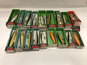 HUGE VINTAGE RAPALA FISHING LURE LOT FLOATING SINKING FINLAND COUNTDOWN
