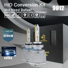Xenon 9012 6000K White AC 55W HID Conversion Kit Headlight Replacement Bulbs