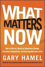 What Matters Now : How to Win in a World of Relentless Change, Ferocious...