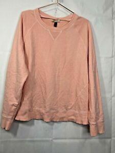 Universal Thread Women's Size XL Peach Crew Neck Rib Hem Sweatshirt