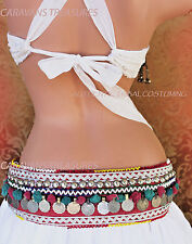 Coin Kuchi Belt for Belly Dance Gypsy Tribal Fusion ATS  Gothic
