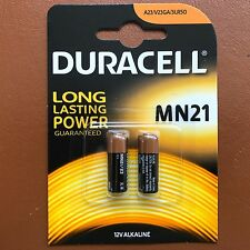 NEW Duracell MN21 Alkaline Batteries A23 LRV08 12V - Pack of 2 batteries