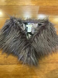 New St. Tropez West Lavender Faux Fur Collar/Scarf/Shawl