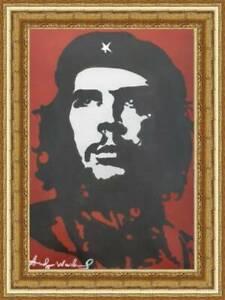 American Master pop /  Andy Warhol / Oil Cardboard /  Signed