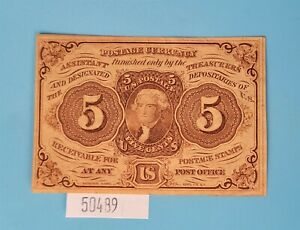 WPCoins ~ $0.05 Cent Fractional Currency 1863 First Issue CU