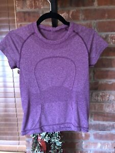 Lululemon Swiftly Tech Short Sleeve Size 4, Race Length, Purple Magenta