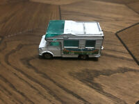 Majorette No224-259 Fourgon White Camper Van 1/67 France DieCast Scale Model