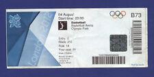 Orig.Ticket  Olympic Games LONDON 2012  //  BASKETBALL   AUSTRALIA - ENGLAND  !!