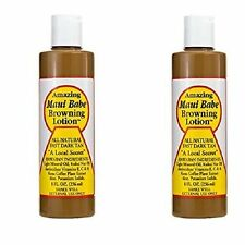 Hawaiian MAUI BABE BROWNING TANNING LOTION 8oz 2-PACK Natural Fast Deep Dark Tan
