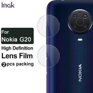 2pcs IMAK Clear Camera Lens Tempered Glass Film For Nokia G20 / Nokia G10