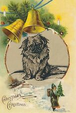Pekingese Waiting for Santa 1937 Lucy Dawson ~ Large New Christmas Note Cards