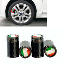 Italy Real Carbon Fiber Tire Wheel Air Valve Stem Cap 4pcs For Nis inf