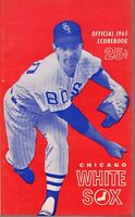 1965 (6/18 G1) Baseball program Boston Red Sox @ Chicago White Sox, scored~ VG