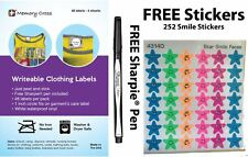 Writeable Clothing Labels