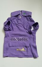 "RALPH LAUREN COTTON MESH purple  DOG POLO SHIRT OUTFIT (M) 8-10LBS ""MAXIM"""