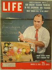 1958 Life Magazine: Crisis in Education  - Our Urgent Teacher Problem Pay & Work