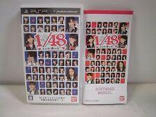 PlayStation Portable -- AKB1/48 Idol to Koishitara -- PSP. JAPAN GAME. 56980