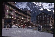 1968 kodachrome photo slide  Switzerland  kleine scheidegg Hotel Des Alpes