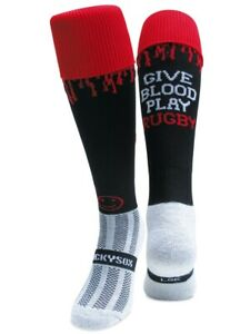 WackySox Rugby Socks, - Give Blood Play Rugby