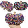 Wedding Party Crystals Bags Multicolored Women Diamond Clutches Evening Handbags