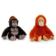 2pc Korimco Keeleco 35cm Orangutan/30cm Gorilla Animal Plush Soft Toy Kids 3y