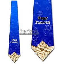 Happy Passover Neckties Mens Matzo Star of David Tie Jewish Holiday NWT