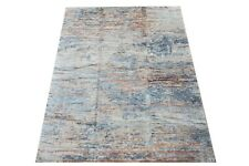 "9X12 Fine Modern Silk Hand-Knotted Area Rug Multicolored Carpet (9' x 12'3"")"