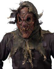 Halloween Gunny Sack Scarecrow Mask Natural Spooky Pumpkin Cornfield Butcher Red