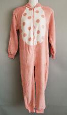BNWT Girls Size 10 Pink Fleece Fabric Unicorn Hooded One Piece PJ Sleep Suit
