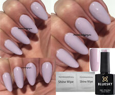 BLUESKY  A90 PASTEL STONE NUDE A HINT OF LILAC NAIL GEL POLISH UV LED SOAK OFF