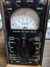 Triplett Model 666 R Voltmeter Ohmeter Multimeter Vintage Case Leads Amp Booklet