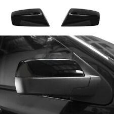 For 2014-2018 Chevy Silverado / GMC Sierra GLOSS BLACK Top Half Mirror Covers