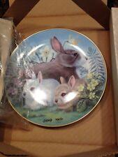 "1982 Hackett Collector Plate Easter ""Springtime"" Bunny Rabbits Sadako Mano /7500"
