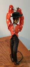 "VINTAGE MALE FLAMENCO DANCER 12.5"" TALL ON STAND WIRE & CLOTH"