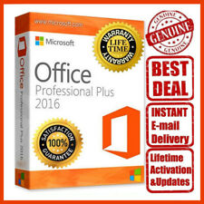 Microsoft Office 2016 Professional Plus 32/64 Bit Lifetime License Key