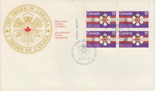 CANADA #736 12¢ ORDER OF CANADA UL INSCRIPTION BLOCK FIRST DAY COVER