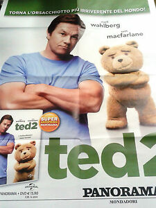 Locandina edicola-poster 80X90:DVD TED 2.SORRISI PANORAMA