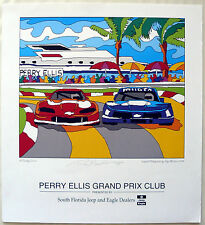 "Ray Masters ""A Sunday Drive"" Perry Ellis Grand Prix  Florida 1994 signed Litho"