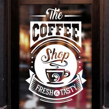 Coffee Shop sticker Tasty Takeaway Cup Window Sign Vinyl decal Graphics Cafe