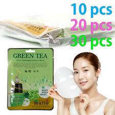 [Malie] GREEN TEA Facial Mask Sheet Essence 10-30pcs Korean Beauty Cosmetics