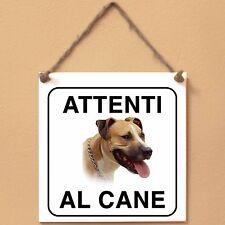 Black Mouth cur Attenti al cane Targa piastrella cartello