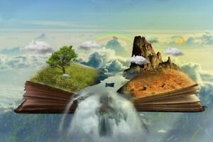 """high quality oil painting handpainted on canvas """"A magical book""""@NO2525"""