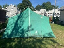 Vintage Sears Hillary Camping Tent Canvas 13 x 10 Cabin Peaked  308 771760