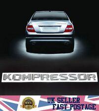 New KOMPRESSOR Badge Emblem Chrome abs Sticker fit Mercedes Benz SLK CLK SL CLS