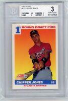 1991 Score #671 Chipper Jones Braves RC Rookie HOF BGS 3 w/ 9.5 Graded