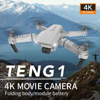 Drone E88 Pro WIFI FPV 4K HD Camera Foldable Selfie RC Quadcopter 1-2 Batteries√